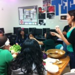 At The Boys & Girls Club in Venice teaching the kids about veggies.